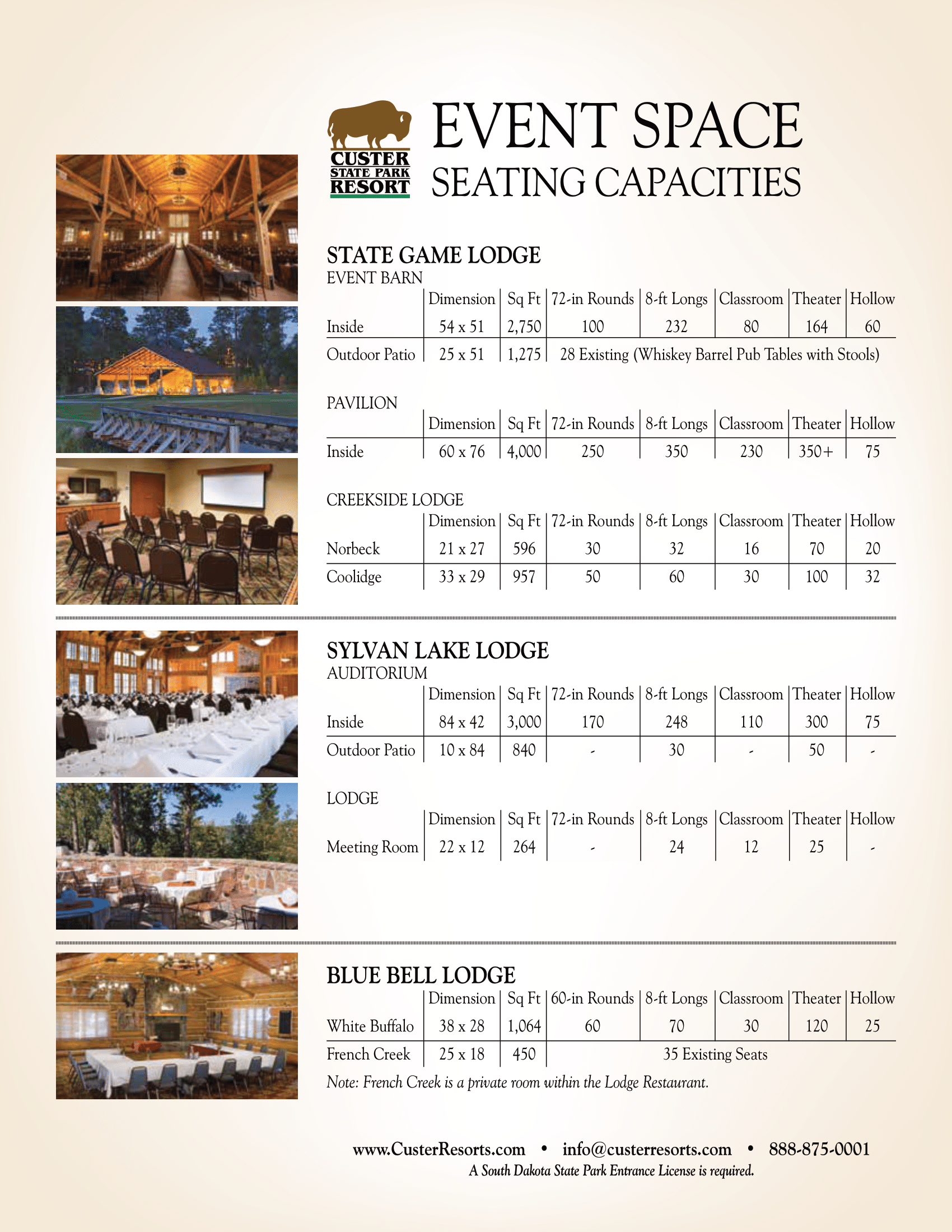 Event Space Seating Chart