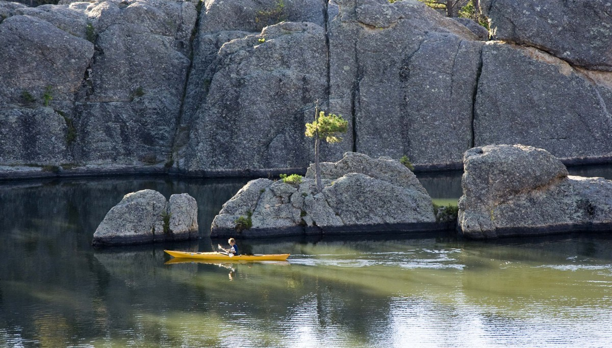 Kayak on Sylvan Lake