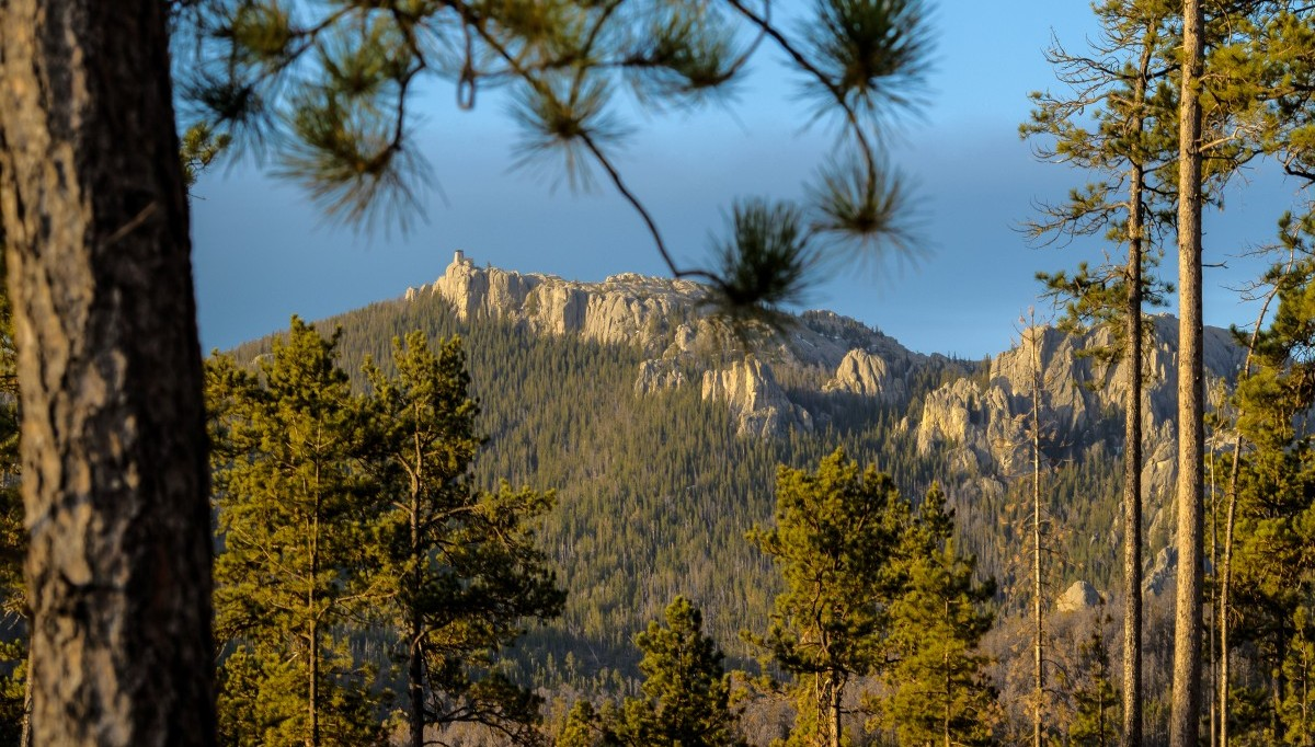 Aerial view of Black Elk Peak