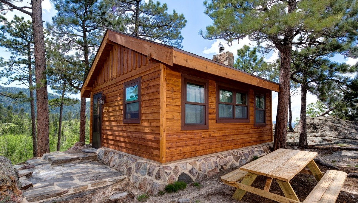 Nestled in the woods, enjoy the modern amenities with the Sylvan Lake Lodge cabins.