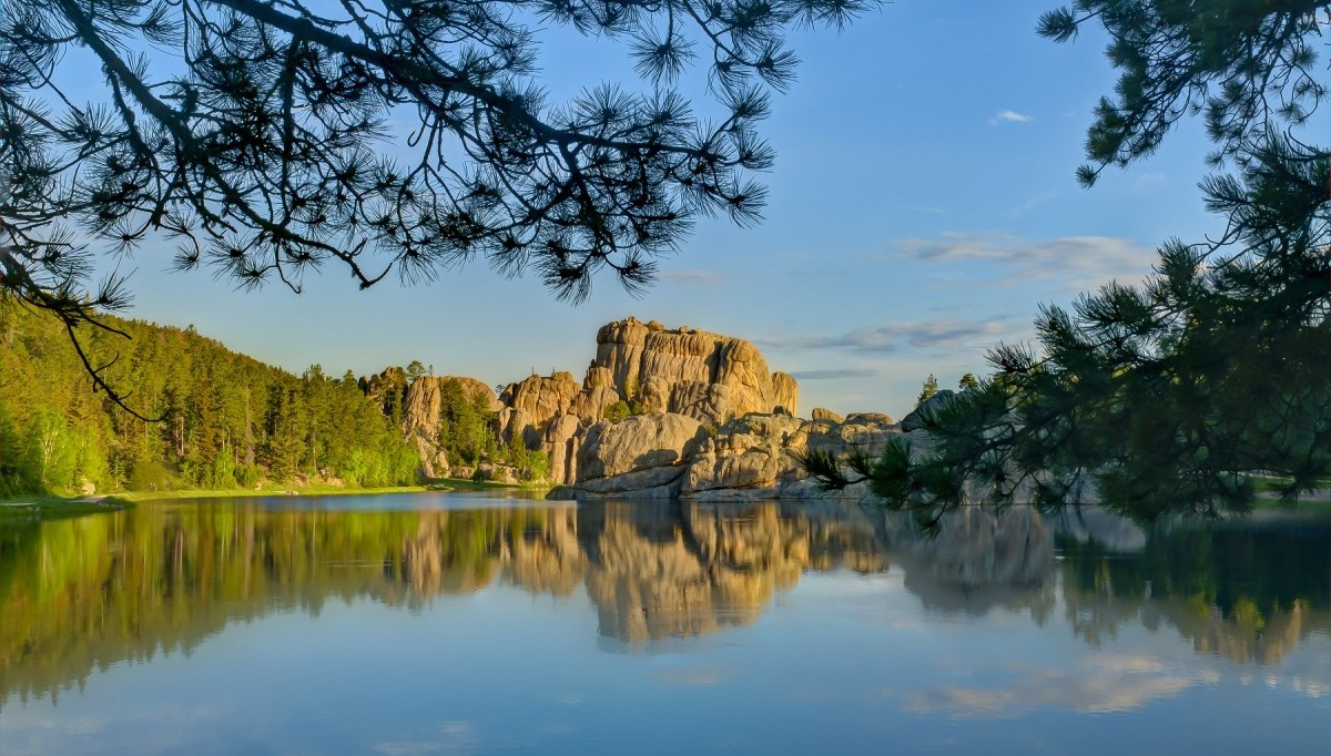 Sylvan Lake during the summer