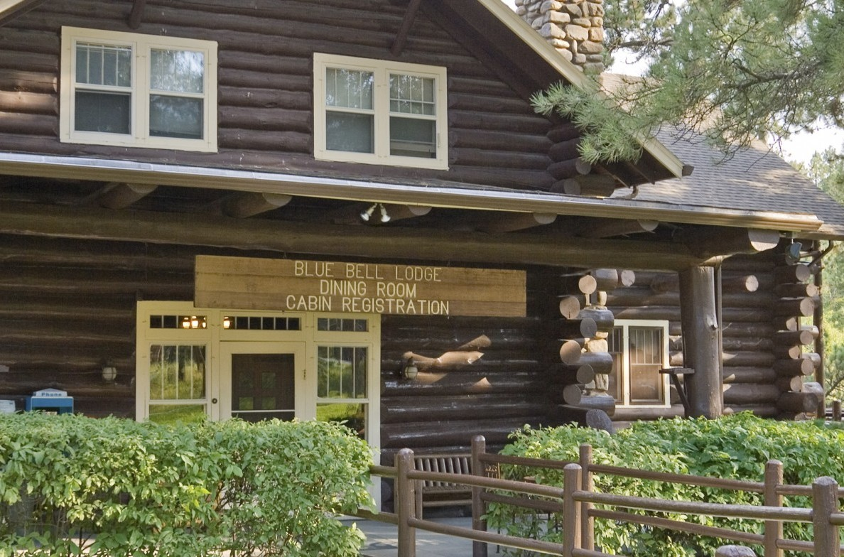 Exterior of the Blue Bell Lodge dining room.