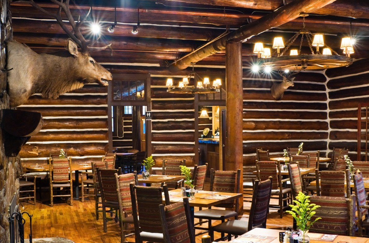 Inside of the Blue Bell Lodge dining room.