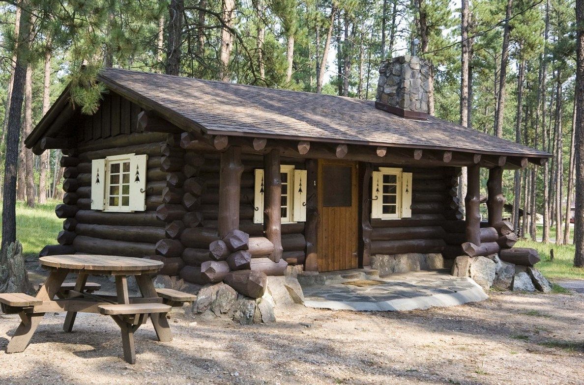 Housekeeping Cabin at the Blue Bell Lodge.