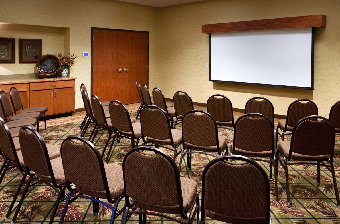 Norbeck Room set up for a meeting presentation.