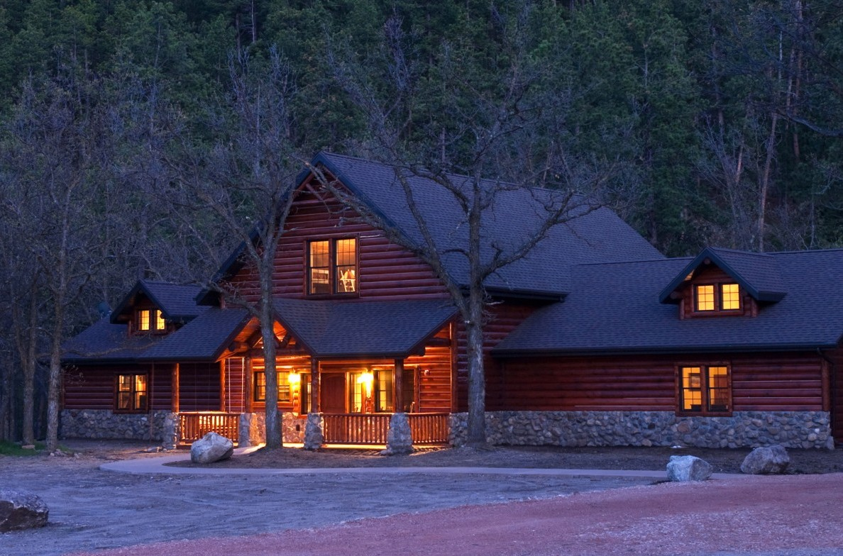Enjoy the warmth at the Reunion Cabin.