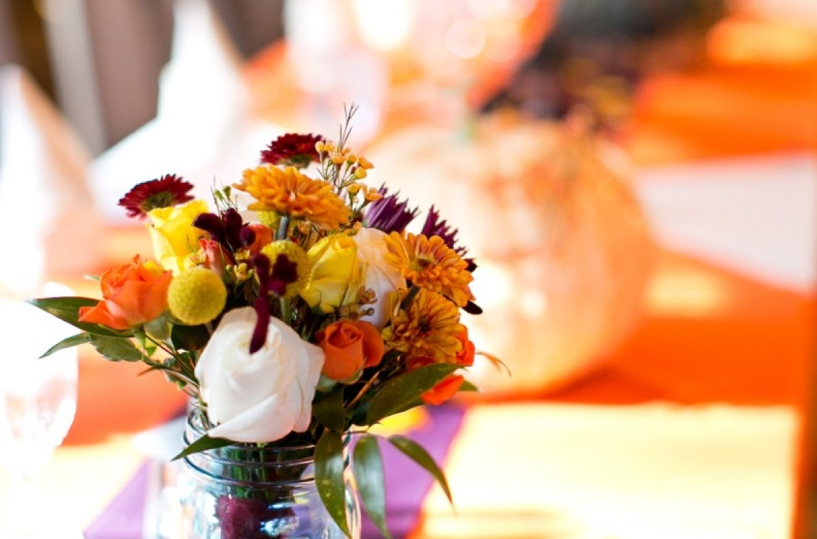 Fall wedding centerpiece.