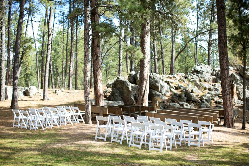 Ceremony setup at the Blue Bell Lodge.