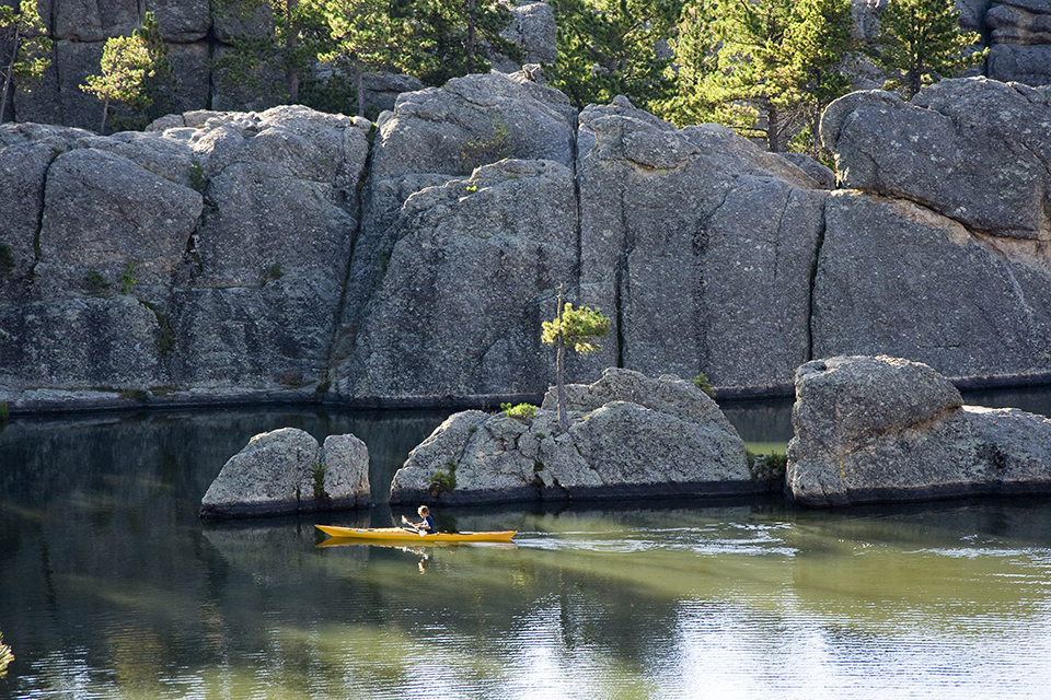 Sylvan Lake is right at the entrance to this scenic byway