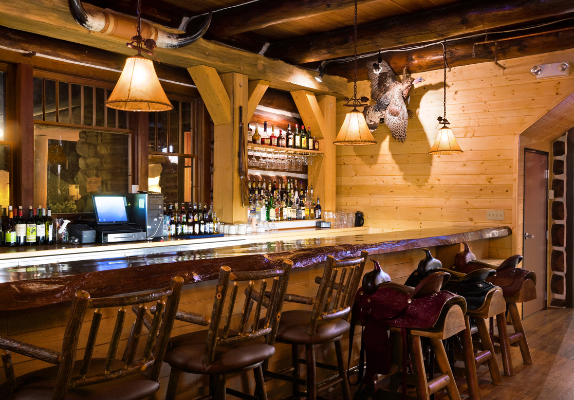 Guests utilize Blue Bell's bar when they rent the White Buffalo Room