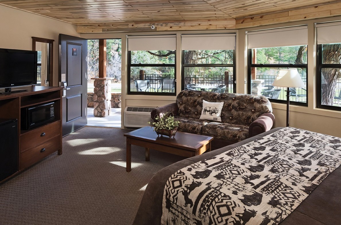 Lodge Rooms with great forest views.