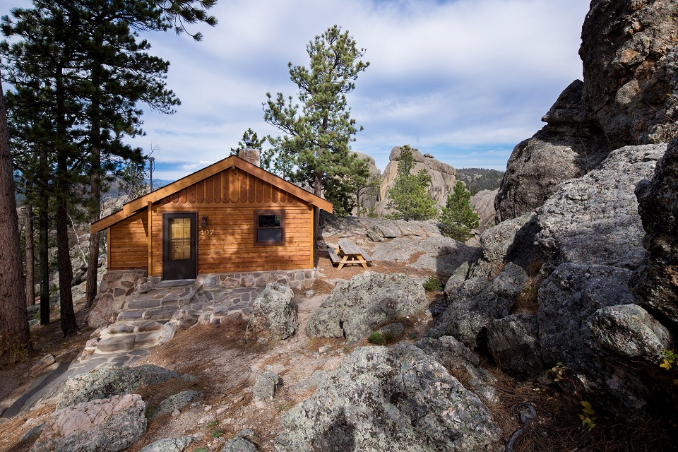 Stay right at the entrance to the scenic byway at Sylvan Lake Lodge